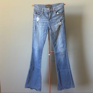 Express Slim Flare Mid Rise Jeans